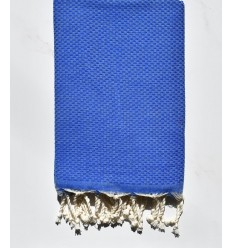 Plain honeycomb blue fouta