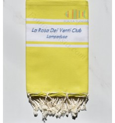 embroidered beach towel La Rosa Dei Venti Club LAMPEDUSA