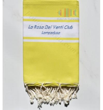 embroidered beach towel La Rosa Dei Venti Club LAMPEDUSA