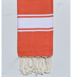 Fouta Plate orange corail