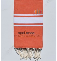 flat orange beach towel with embroidery