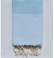 Honeycomb pastel blue fouta