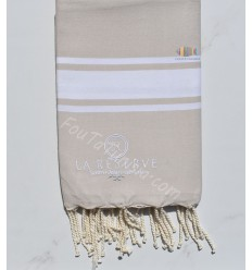personalized beach towel light taupe color