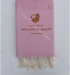 embroidered beach towel hotel crillon le brave