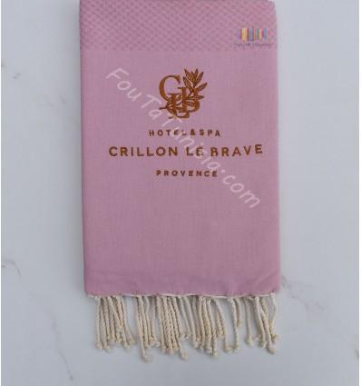 embroidered beach towel hotel crillon le brave