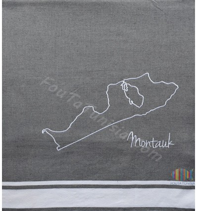 embroidered beach towel mantauk USA