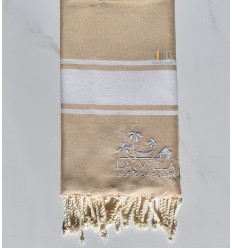beach towel embroidered LA VILLA