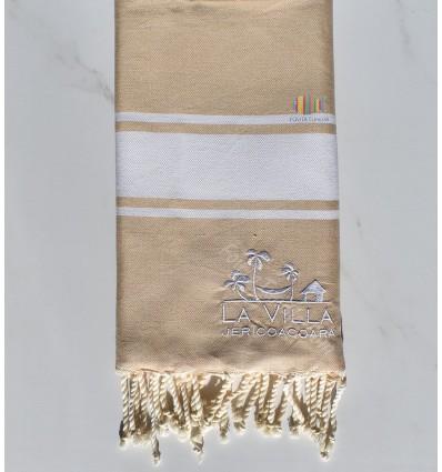 beach towel embroidered LA VILLA