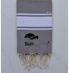 beach towel embroidered Sun Marine