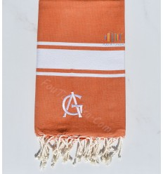 Fouta embroidery Annick Goutal