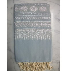 Khomsa carolina blue fouta