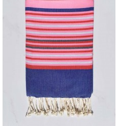 light pink, blue jeans, red, light gray and slate beach towel