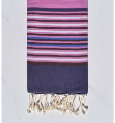 dark indigo, colombine, purplish pink, light gray and blue beach towel