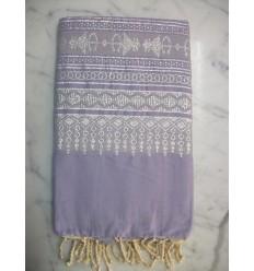 Khomsa lavender fouta