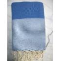 Honeycomb azure blue lurex fouta