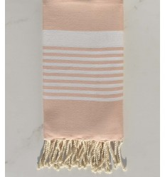 Beach towel Arthur pink bisque with white stripes