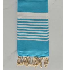 Arthur blue azure with stripes fouta