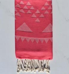 Beach towel bohemian bright pink