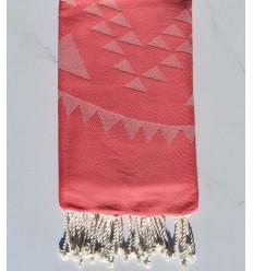 Beach towel bohemian pink incarnadine
