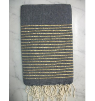 Flat golden cornflower blue lurex fouta