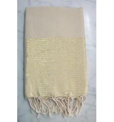 Honeycomb lurex sand fouta