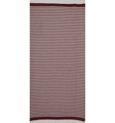 zigzag Red Bordeaux beach towel