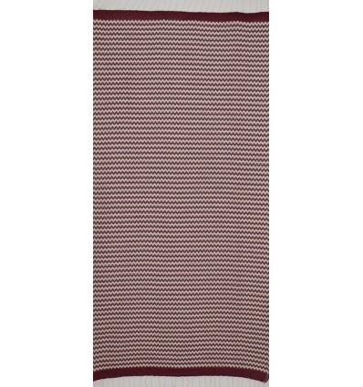 zigzag Red Bordeaux beach towel