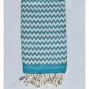 Beach towel zigzag Blue green