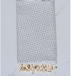 Beach towel , butterfly light grey