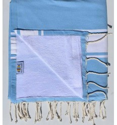 beach towel doubled sponge blue sky and blue