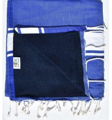 beach towel,doubled sponge royal blue and midnight blue