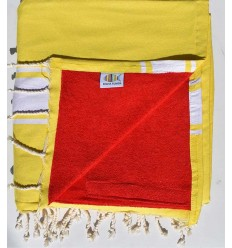 beach towel doubled spongeblue, yellow cobalt and red