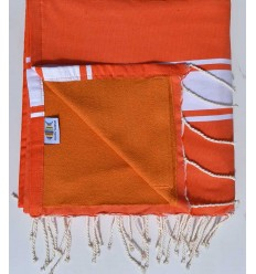 beach towel doubled sponge orange, apricot