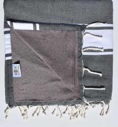 beach towel doubled spongeblue, Grey slate and mole