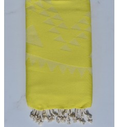 Beach towel bohemian  Lemon yellow