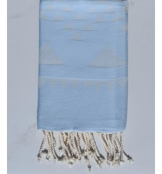 Beach towel bohemian sky blue