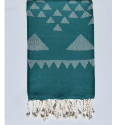 Beach towel bohemian green grass