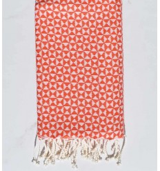 Beach towel butterfly red orange