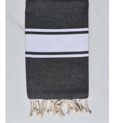 Beach towel Grey slate with wire lurex