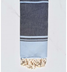 beach towel RAF-RAF midnight blue and sky blue