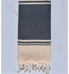 beach towel RAF-RAF Navy blue and pale yellow