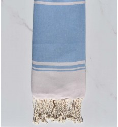 beach towel BORA-BORA blue cornflower and pink pale pastel