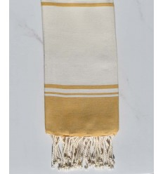 beach towel RAF-RAF off-white and mustard yellow