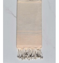 beach towel RAF-RAF White cream and bisque