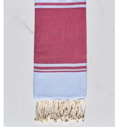 beach towel RAF-RAF raspberry pink and sky blue
