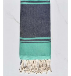 Beach towel v RAF-RAF midnight blue and malachite green