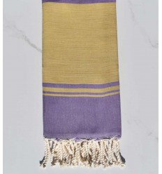 beach towel RAF-RAF yellow ochre and purple parma
