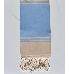 beach towel RAF-RAF blue cornflower and beige