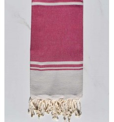 beach towel RAF-RAF raspberry pink and   bisque