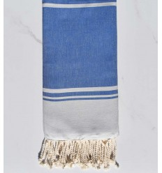 beach towel RAF-RAF smoked blue and blue cornflower